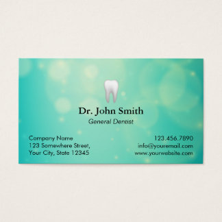 Zahnarzt-moderne grüne Licht-zahnmedizinische Visitenkarte