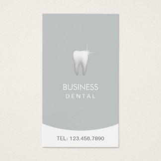 Zahnarzt-moderne silberne zahnmedizinische visitenkarte