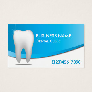 Zahnarzt-moderne weiße Zahn-Zahnpflege Visitenkarte