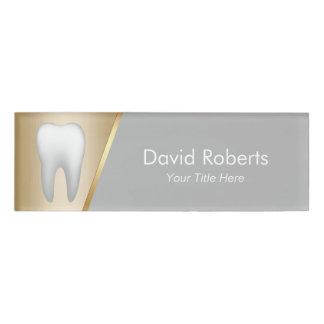 Zahnarzt-modernes Gold u. grauer Zahnarzthelfer Namenschild