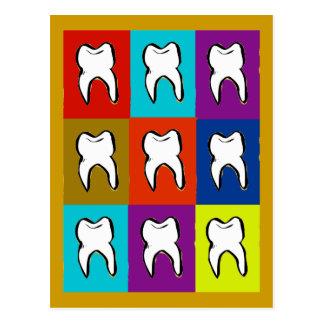 Zahnarzt Popart Geschenke Postkarte