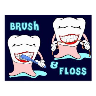 Zahnarzt und Zahnarzthelfer Postkarte