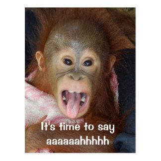 Zahnarzt-Verabredung sagen Aaahh Postkarte