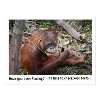 Zahnarzt-Verabredungs-Erinnerung Postkarte