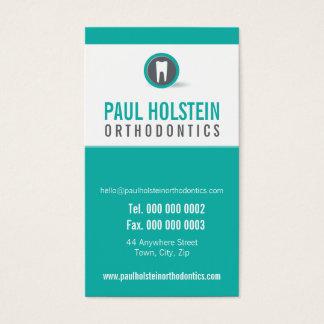 ZAHNARZT-VERABREDUNGS-KARTE:: modernes Zahnlogo 2 Visitenkarten