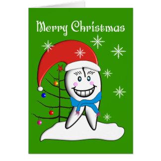 Zahnarzt-Weihnachtskarten und -geschenke Karte