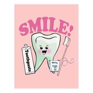 Zahnarzt-Zahnarzthelfer Postkarte
