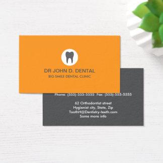 Zahnarzt, zahnmedizinische graue Visitenkarte mit