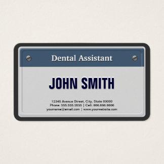 Zahnarzthelfer-coole KFZ-Zulassungsschein Platte Visitenkarte
