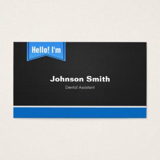 Zahnarzthelfer - hallo treten Sie mit mir in Visitenkarte
