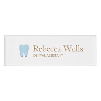 Zahnarzthelfer-Zahnarzt-Zahn-Logo Namenschild