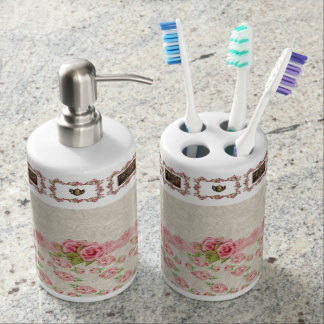 Zahnbürstehalterseifenzufuhr-Badezimmer-Set Badset