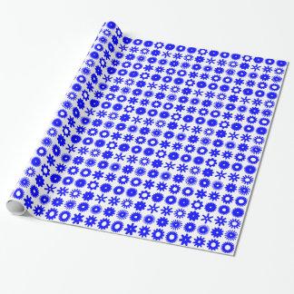 Zähne - Blau auf Weiß Geschenkpapier