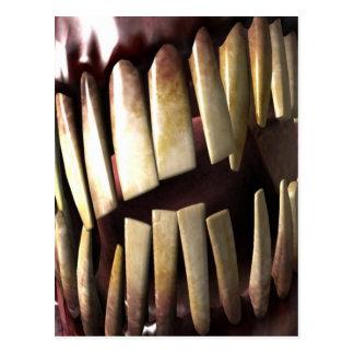 Zähne Postkarte