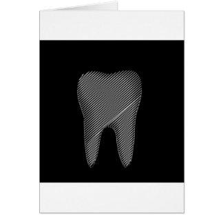Zahngraphik für Zahnarzt Grußkarte