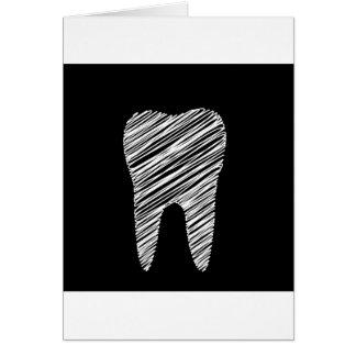 Zahngraphik für Zahnarzt Karte