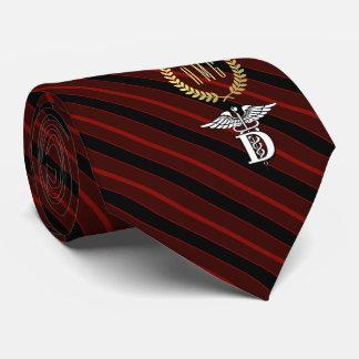 Zahnheilkunde-berufliches Symbol-Rot Bedruckte Krawatte
