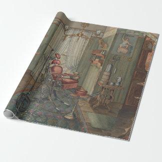 Zahnmedizinische Betriebsraumwatercolor-Gouache Geschenkpapier