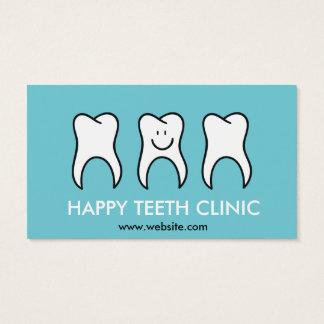 Zahnmedizinische Klinik des blauen Zahnarztes mit Visitenkarte
