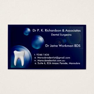 Zahnmedizinische Kunst-blaue Blasen-Entwurfs-Karte Visitenkarte