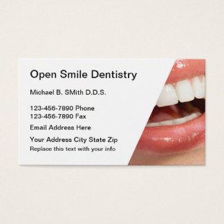 Zahnmedizinische Verabredung Businesscards Visitenkarte