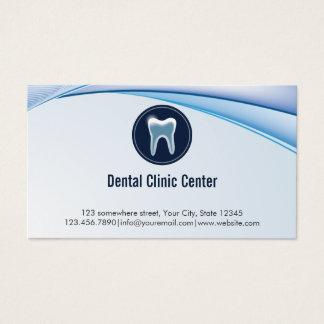 Zahnmedizinische Verabredungs-moderner blauer Visitenkarte