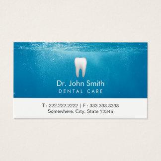 Zahnmedizinische Verabredungs-sauberer Zahn-blaues Visitenkarte