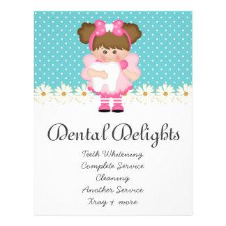 Zahnmedizinischer Zahnarzt-Zahn-Fee-Polka-Punkt 21,6 X 27,9 Cm Flyer
