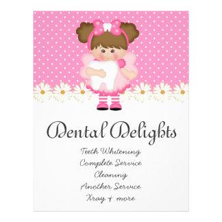 Zahnmedizinischer Zahnarzt-Zahn-Fee-Polka-Punkt Bedruckte Flyer
