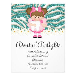 Zahnmedizinischer Zahnarzt-Zahn-Feeniedlicher 21,6 X 27,9 Cm Flyer