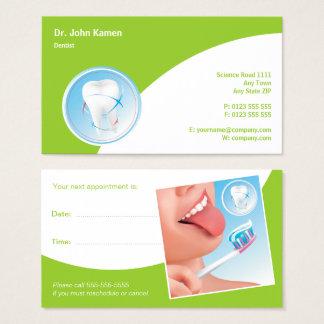 Zahnmedizinisches Zahnarzt-Grün der Visitenkarte