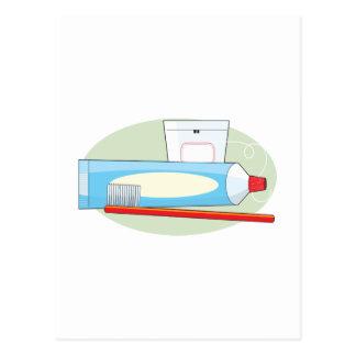 Zahnpasta und Bürste Postkarte