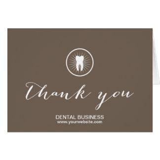 Zahnpflege-danken einfaches Zahn-Ikonen-Geschäft Mitteilungskarte