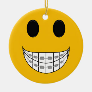 Zahnspangen Smiley Keramik Ornament