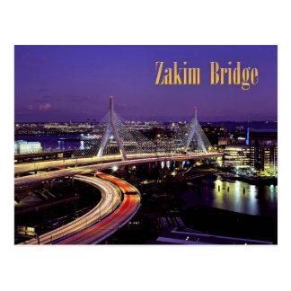 Zakim Brücke, Boston nachts Postkarten