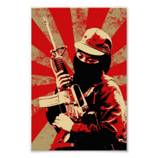 zapatista Druck durch zorniges Poster