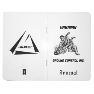 Zapfen Sie mit Hawaiian Ground Control Inc-Logo Taschennotizbuch