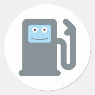 Zapfsäule gas petrol pump runder aufkleber
