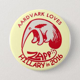 Zapp Lieben Hillary im Jahre 2016 Runder Button 7,6 Cm