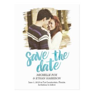 Zart aufgedeckte Save the Date Postkarte