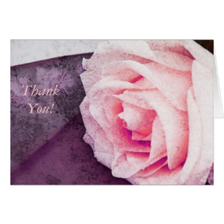 Zarte rosa Rose danken Ihnen zu merken Karte