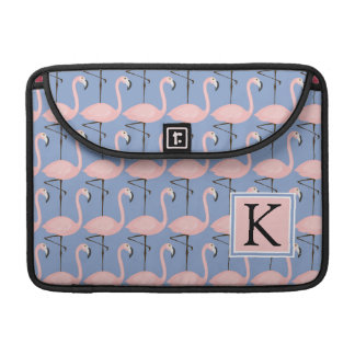 Zartes Monogramm des Flamingo-Muster-| MacBook Pro Sleeve