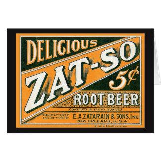 Zat-So 5¢ Root Beer Karte