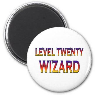 Zauberer des Niveaus zwanzig Magnets