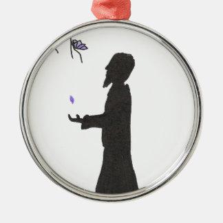 Zauberer liest die Omen Silbernes Ornament