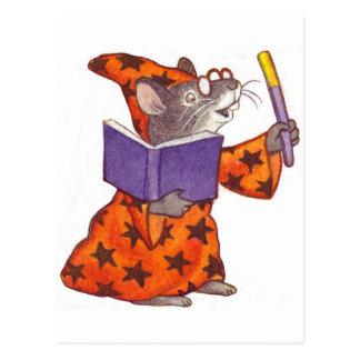 Zauberer-Maus Postkarte