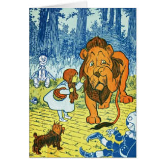 Zauberer von Oz Dorothy und der feige Löwe Karte