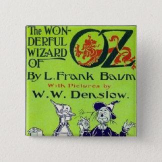 Zauberer von Oz Quadratischer Button 5,1 Cm