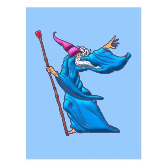 zauberer wizard sorcerer warlock postkarte