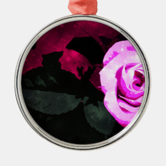 Zauberhaftes Rosen-Design Silbernes Ornament